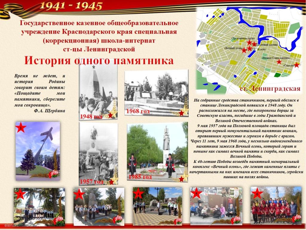 Страница Маяки Победы ст.Ленинградской
