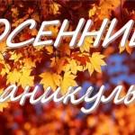 Осенние каникулы в дистанционном режиме